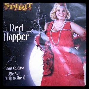 Halloween Red Flapper Costume